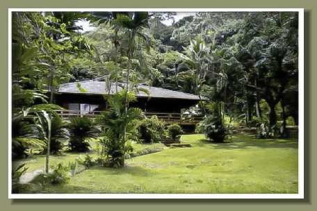 the Main House all buit in tropical hard wood of the Ocenfront Prperty of the Osa Peninsula Golfo Dulce
