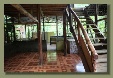 The two Stories Wooden House of the Micro Farm Property in the central area of the Osa Peninsula
