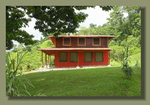 Two stories House in a farmland forest land on the hills close to Puerto Jimenez, Osa Peninsula